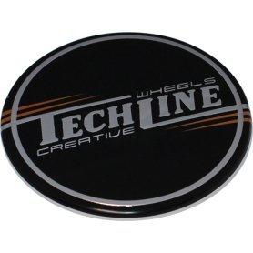 Стикер (наклейка) Tech Line, диаметр 44.5 мм, алюминий
