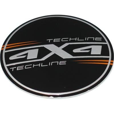Стикер (наклейка) Tech Line, диаметр 64.5 мм, алюминий