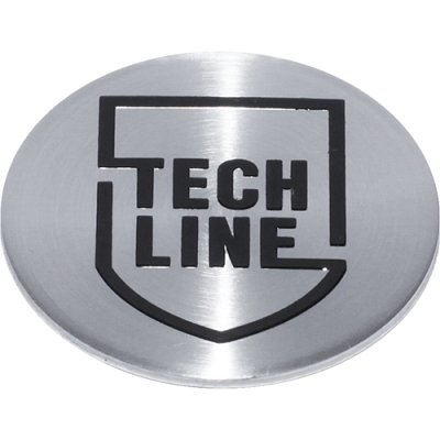Стикер (наклейка) Tech Line, диаметр 60 мм, с 2018 г, алюминий